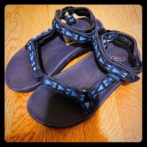 TEVA Boys Blue Sandals Size 2